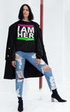 I AM HER Women's Crewneck Sweatshirt - Pink & Green - I AM HER Apparel