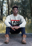 I AM HIM X I AM KING Casual Mens Crewneck Sweatshirt - White - I AM HER Apparel, LLC