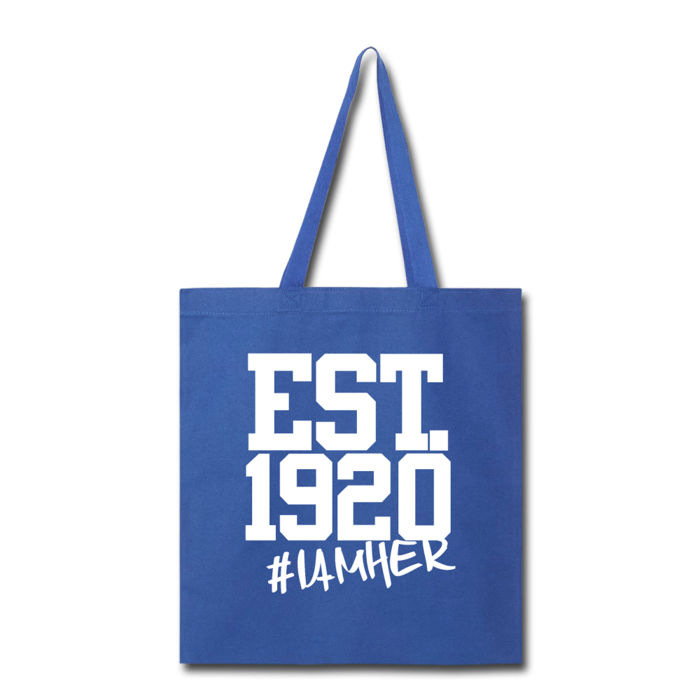 Zeta Phi Beta Inspired EST.1920 - Canvas Tote Bag - I AM HER Apparel