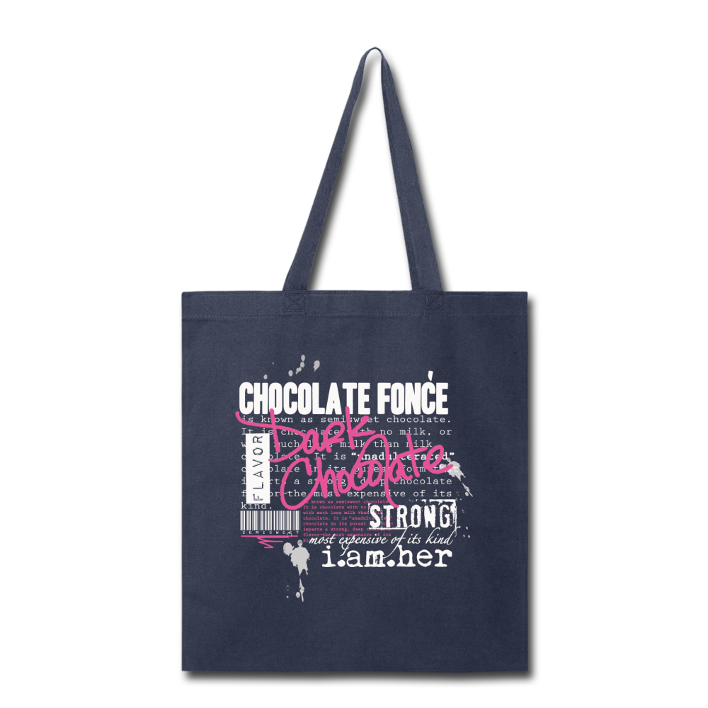 Dark Chocolate - Canvas Tote Bag - I AM HER Apparel