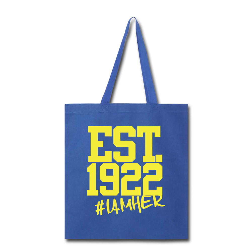 Sigma Gamma Rho Inspired EST.1922 - Canvas Tote Bag - I AM HER Apparel