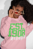 Alpha Kappa Alpha Inspired - EST. 1908 Women's Crewneck Sweatshirt - Pink - I AM HER Apparel, LLC