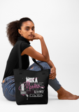 Mocha Canvas Tote Bag - I AM HER Apparel