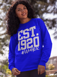 Zeta Phi Beta Inspired - EST. 1920 Women's Crewneck Sweatshirt - Royal - I AM HER Apparel