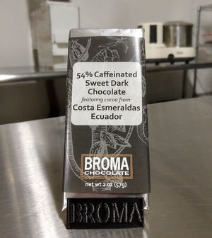 2 oz - 54% Dark, Ecuador Esmereldas with Caffeine