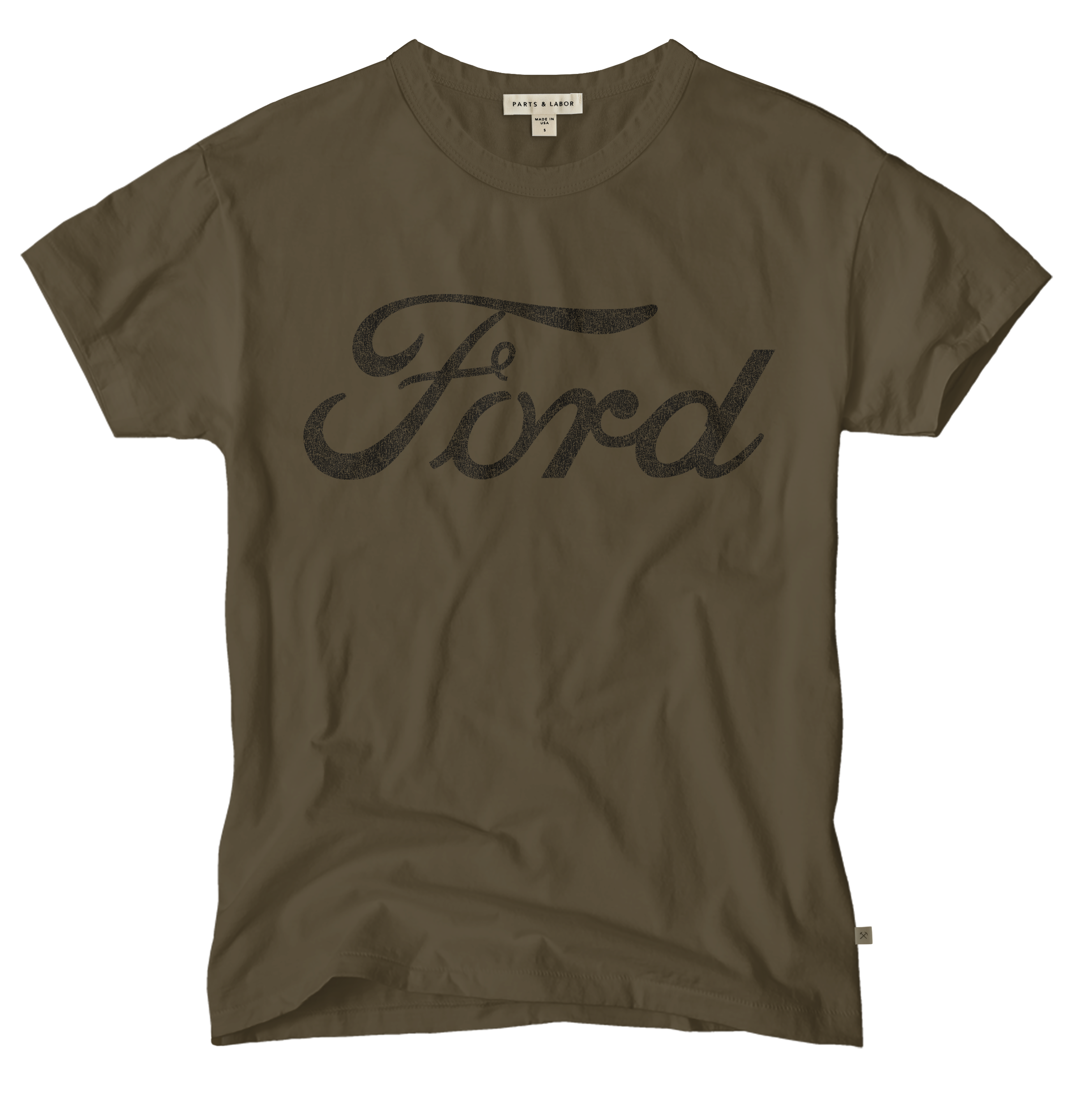 Ford Logo Graphic T-Shirt - Brown