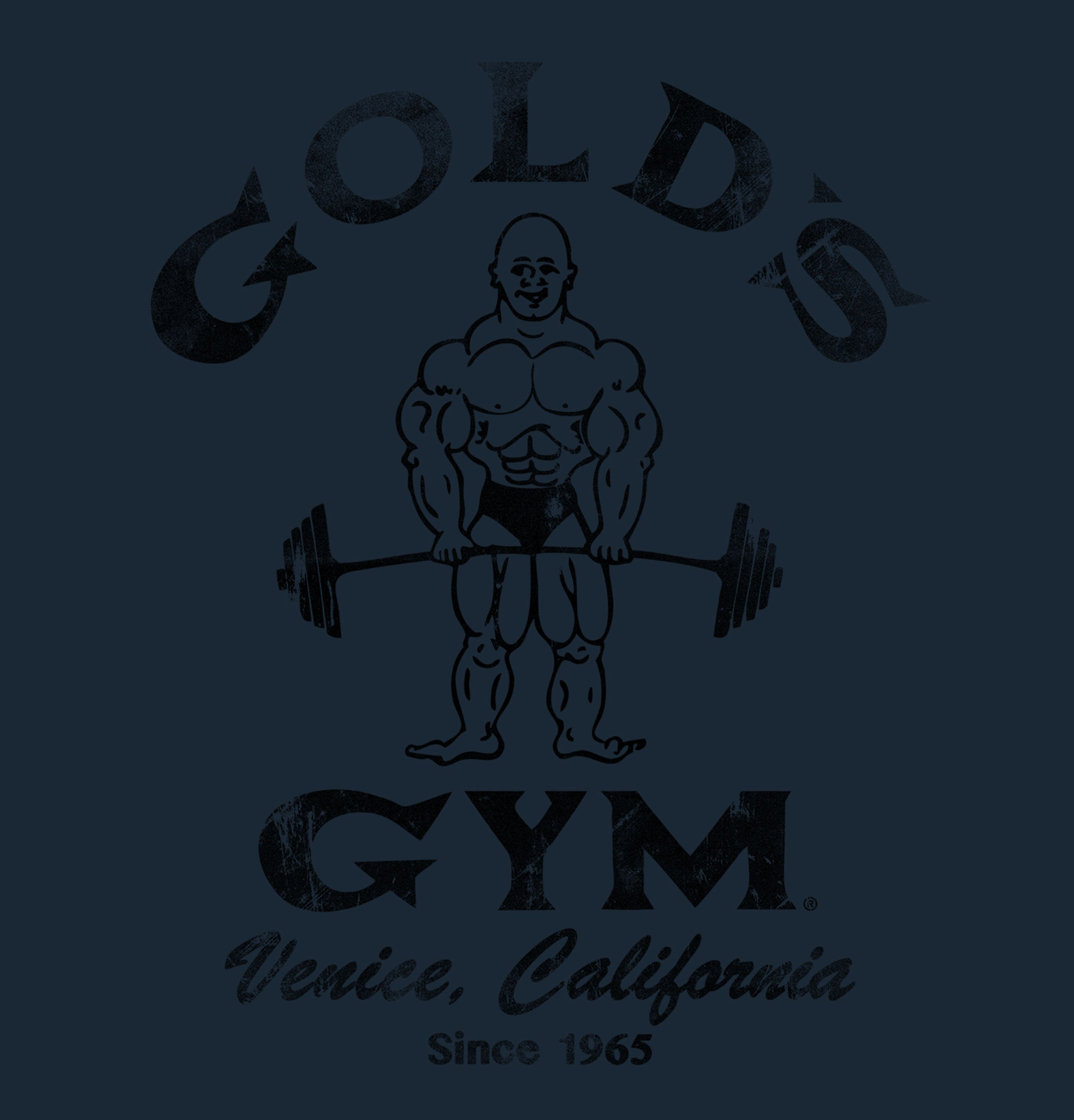 Gold's Gym Venice California Strongman Vintage Graphic T-shirt - Blue