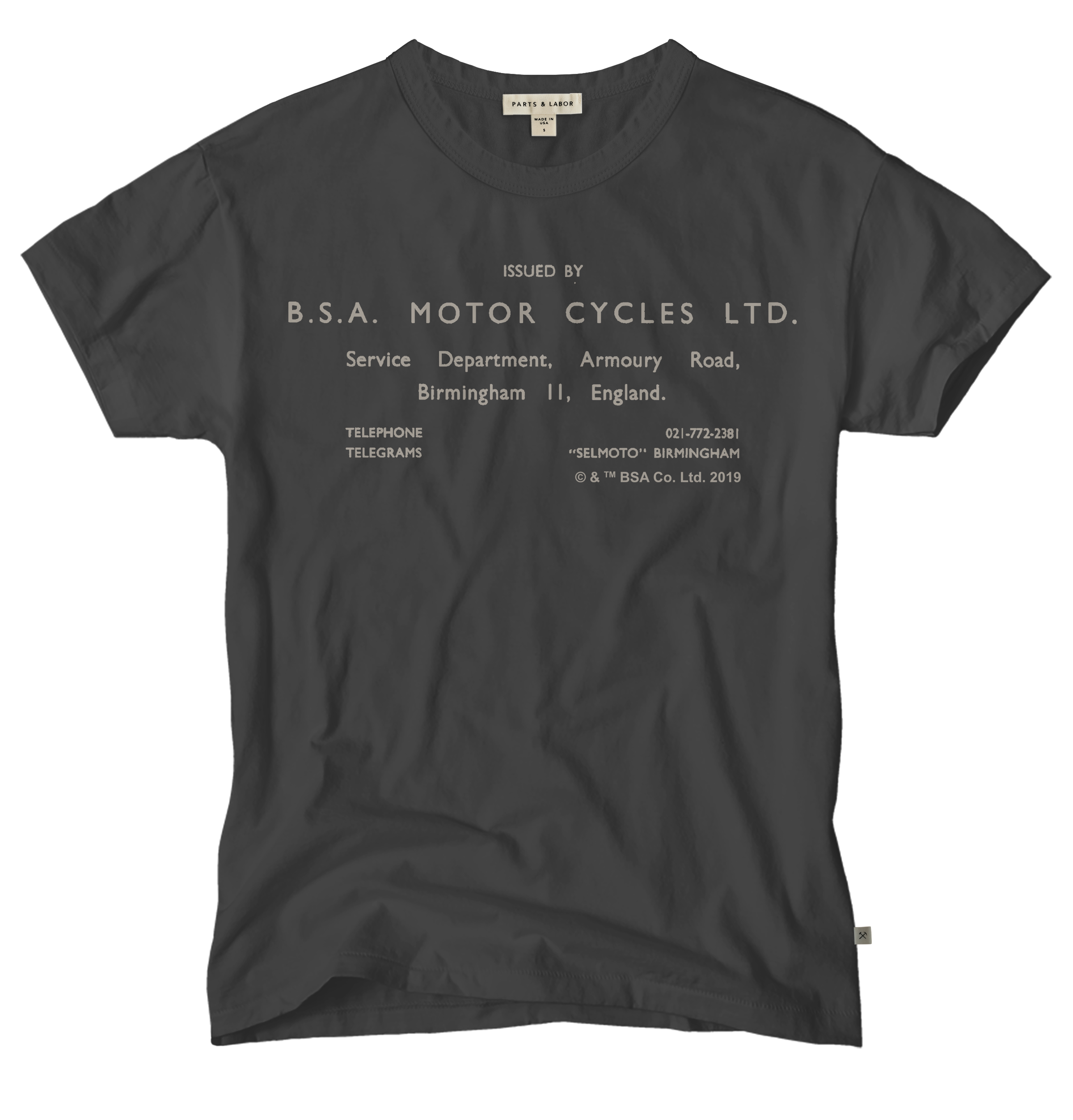 BSA Motorcycles Vintage Graphic T-Shirt - Graphite