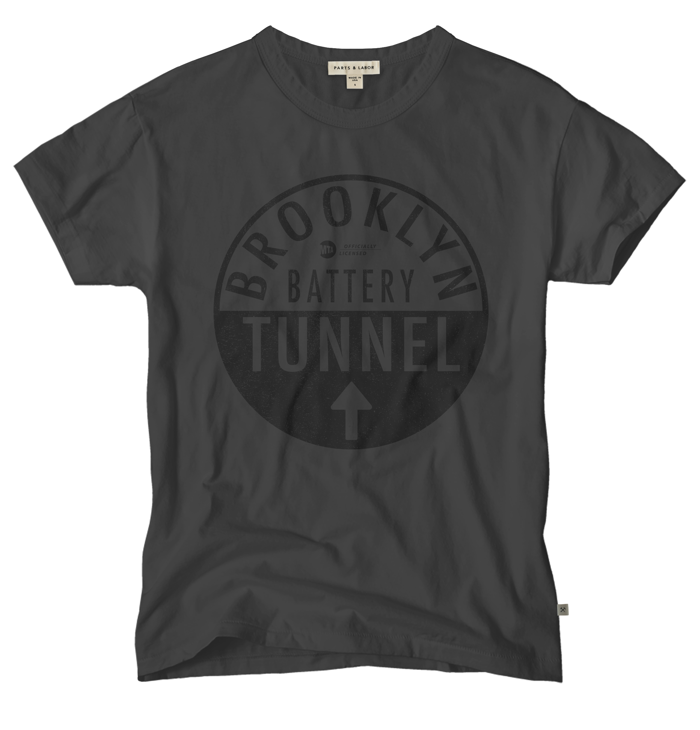 MTA Brooklyn Battery Tunnel Vintage Graphic T-Shirt - Graphite