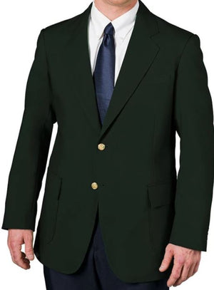 Executive Apparel Men's Ultralux Polyester Blazer, Style 1000, Hunter Green