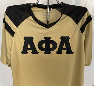 Alpha Phi Alpha Performance Soccer Jerseys, Vegas Gold/Black