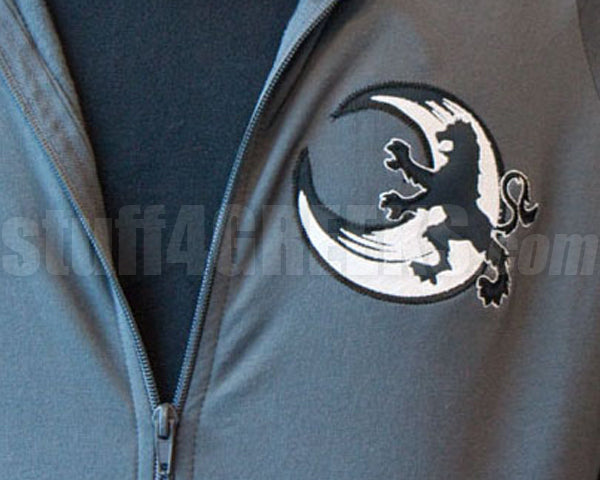 Custom Full-Zip Sweatshirt with Large Crest on Back