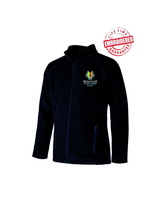Girls Youth/Adult Fitted Polar Fleece with Embroidered WACS Logo in Navy