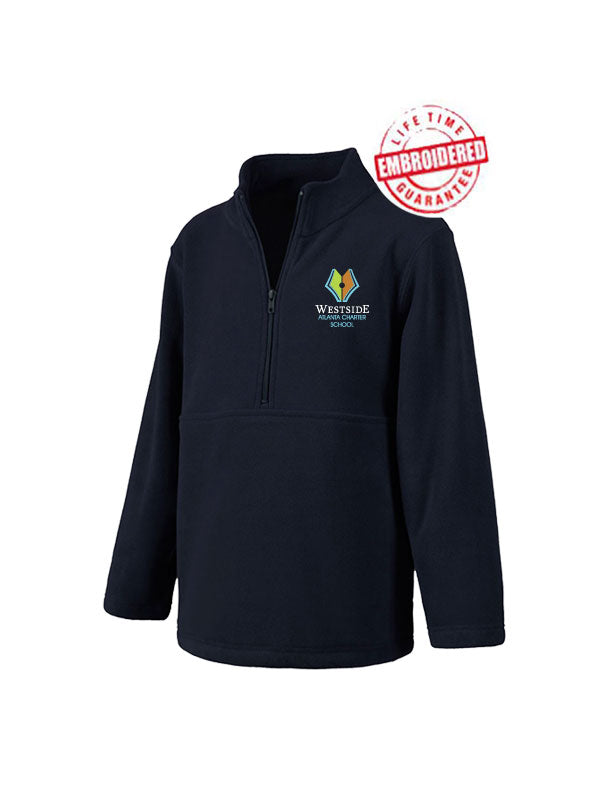 Youth/Adult Polar Fleece Pullover with Embroidered WACS Logo in Navy