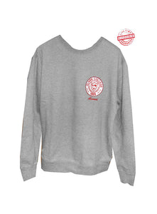 Clark College Crewneck Sweatshirt with Logo, Grey – EMBROIDERED with Lifetime Guarantee