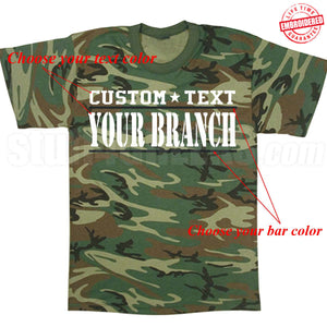 Custom Military T-Shirts Embroidered with Lifetime Guarantee