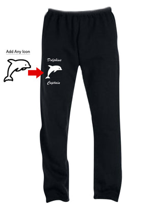 Custom Screen Printed Sweatpants with Icon