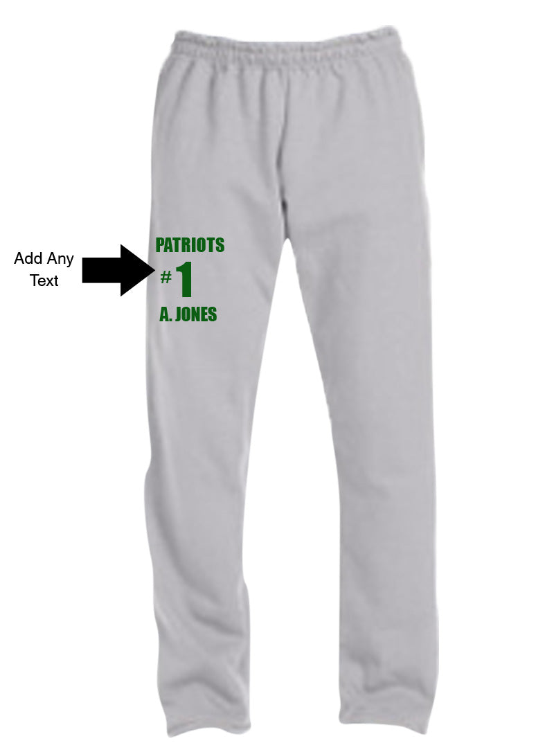 Custom Screen Printed Sweatpants with Text