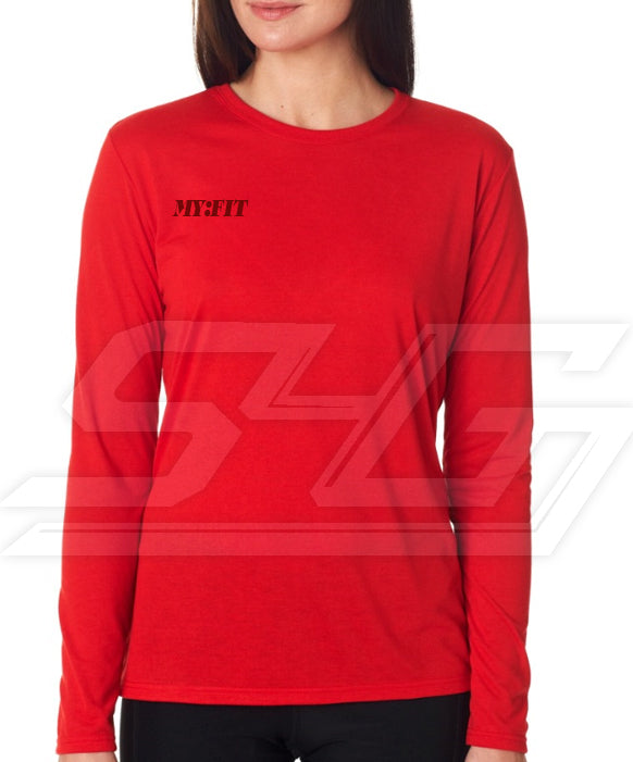Custom Fitted Athletic Performance Screen Printed Shirt (Ladies Long Sleeve)
