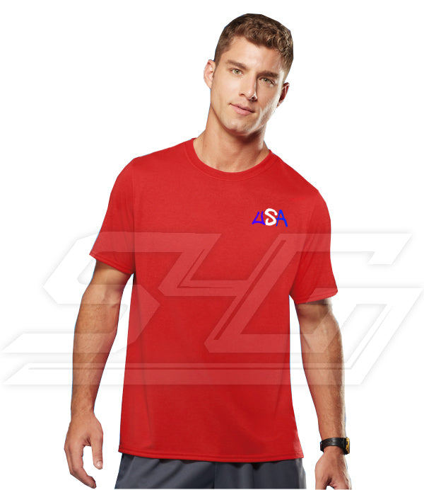 Custom Athletic Performance Screen Printed T-Shirts (Men's Short Sleeve)