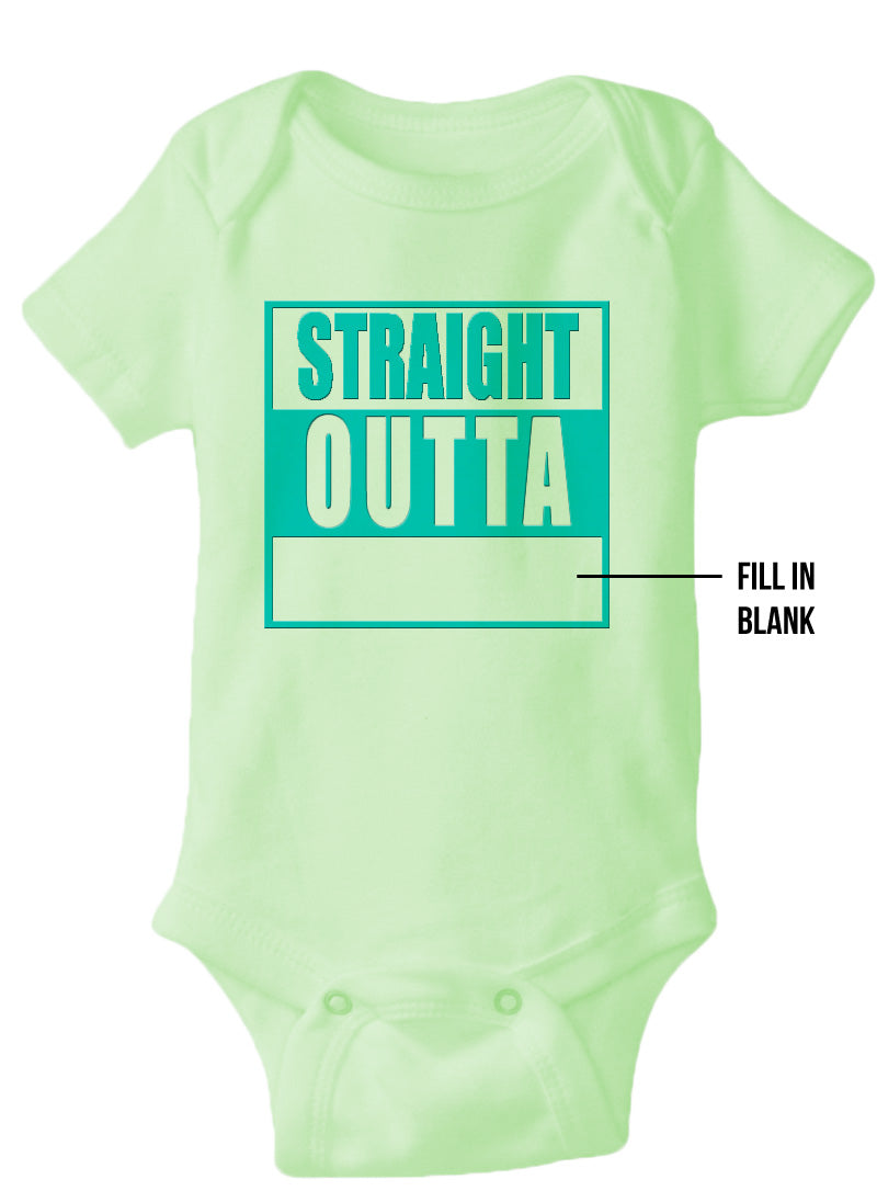 "Custom ""Straight Outta"" Screen Printed Fratbrat Creeper – CHOOSE YOUR COLOR"