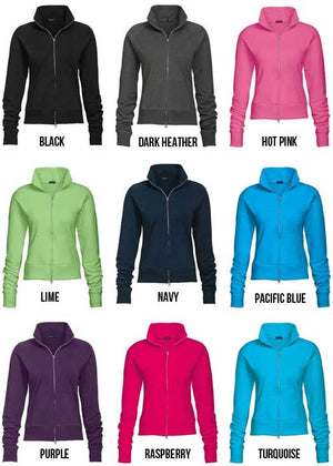 Custom Ladies' Solid Color Track Jacket (1STOP)