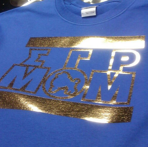 Custom V-Neck Shirt with DTG Printed Metallic Foil
