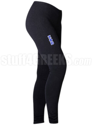 Custom Screen Printed Greek Athletic Leggings with Text (BC)