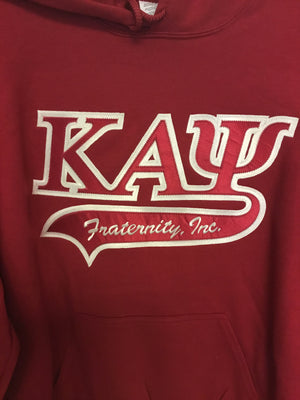 Kappa Alpha Psi Hoodies, Red/White