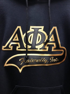 Alpha Phi Alpha Hoodies, Black/Gold