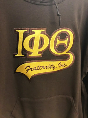 Iota Phi Theta Hoodies, Brown/Gold
