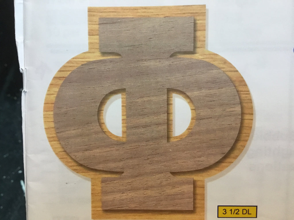 "3 1/2"" Double Wood Letter"