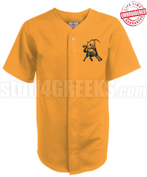 Iota Phi Theta Cloth Baseball Jersey with Centaur Icon, Gold (TW)- Embroidered with Lifetime Guarantee