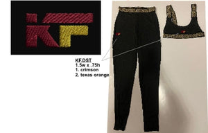 "Krushfit ""KF"" Logo Embroidered on Black/Versace Pattern Set, Provided Item Handling Fee Waived"