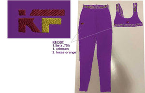 "Krushfit ""KF"" Logo Embroidered on Purple/Versace Pattern Set, Provided Item Handling Fee Waived"