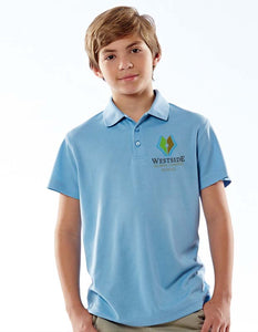 UltraClub® Youth Cool & Dry Mesh Piqué Polo 8210Y with Embroidered Westside Atlanta Charter School (WACS) Logo – Made to Order in 3-5 Business Days