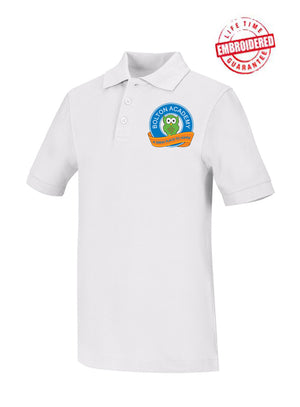 Unisex Youth/Adult Short Sleeve Pique Polo with Embroidered WACS Logo