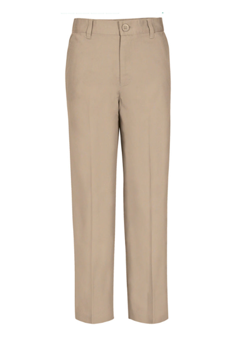 Girls' Khaki Flat Front Pants 5194