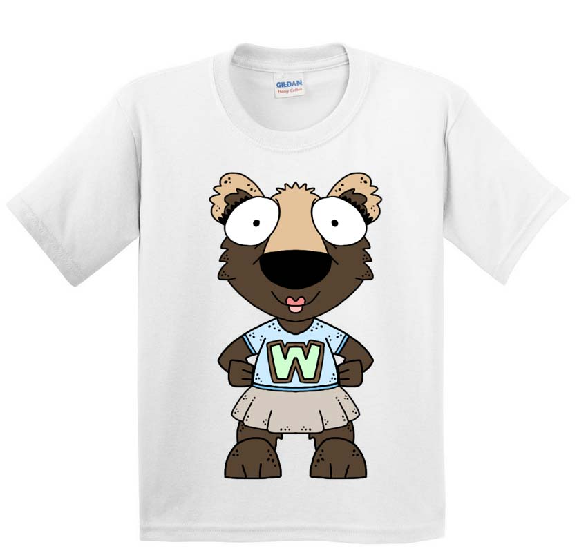 WACS Girl Wolverine Short Sleeve White T-Shirt
