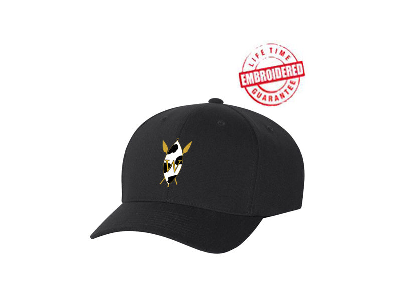 The Wilson Academy Baseball Hat FlexFit Baseball Cap with Embroidered The Wilson Academy Icon, Black