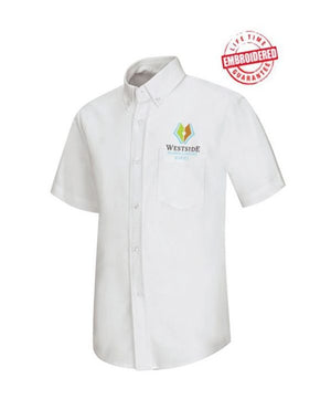 Boys/Men Short Sleeve Oxford Shirt with Embroidered WACS Logo