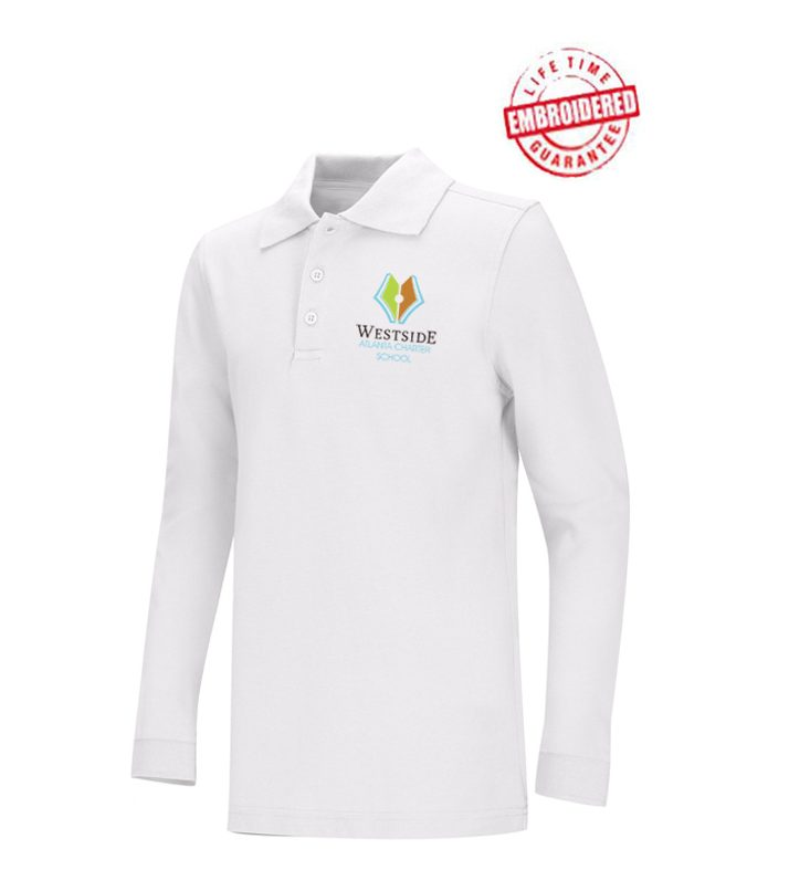 Unisex Youth/Adult Long Sleeve Pique Polo with Embroidered WACS Logo