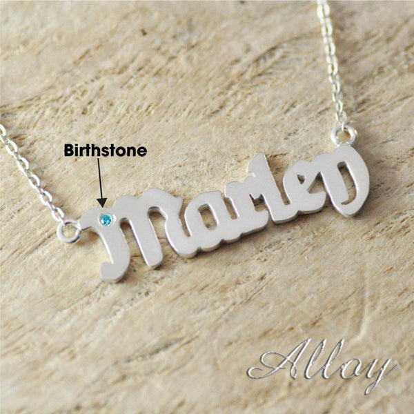 Alloy Necklace & Birthstone
