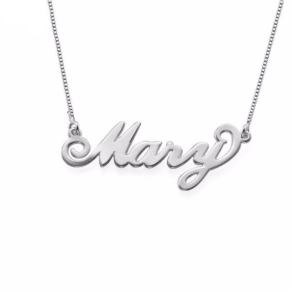 Personalized Name Necklace Carrie Font Fascinating Pendant Custom Name Necklaces