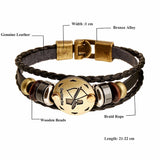 Fashion Charm Jewelry 12 Zodiac Leather Bracelet
