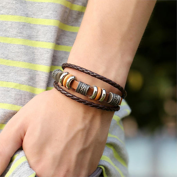 Leather Bracelets & Bangles For Women Men