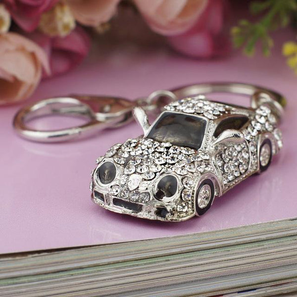 Sports Car Crystal Keychain