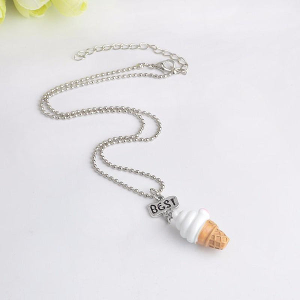 "3 pcs/set Ice Cream Necklace ""Best, Friend, Forever"""