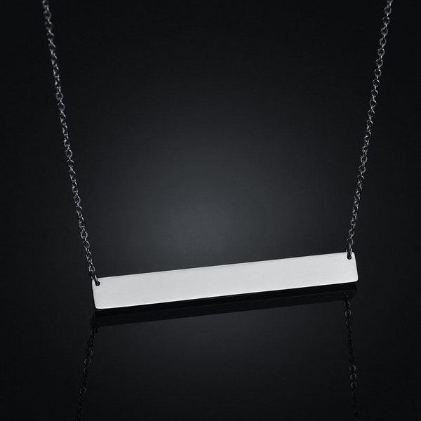 Bar Necklace 3 Colors Stainless Steel Custom Name