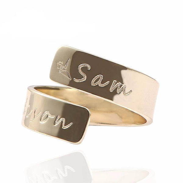 Custom Name Personalized Letter Ring
